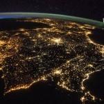 9   Пиренейский полуостров ночью - Испания и Португалия