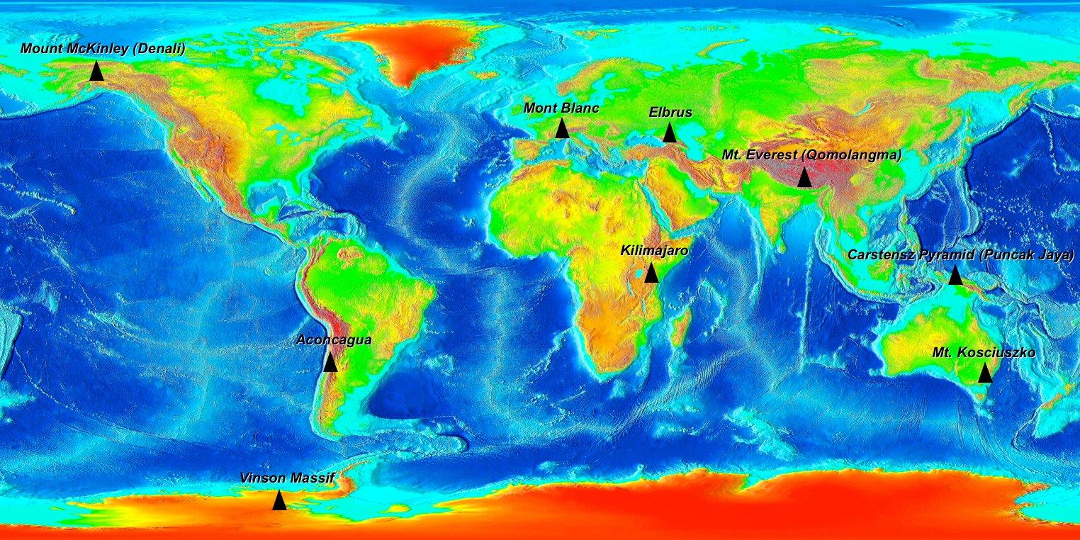 7 высочайших вершин мира